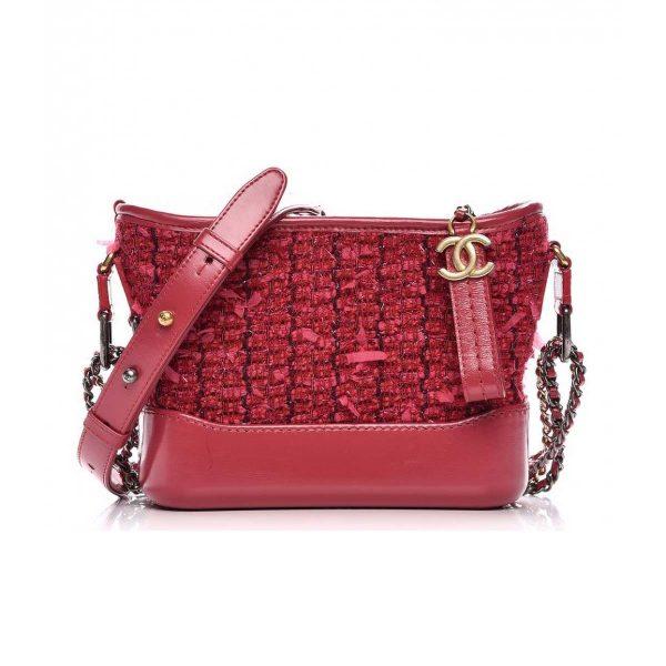 Chanel Gabrielle Hobo Medium Bag in Tweed Calfskin Leather
