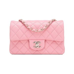 Chanel Small Classic Iconic Handbag in Lambskin with Gold-tone Metal