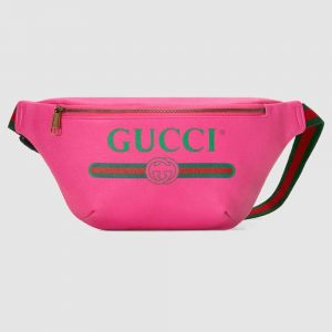 Gucci GG Unisex Gucci Print Leather Belt Bag