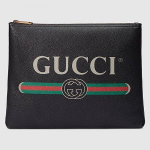 Gucci GG Unisex Gucci Print Leather Medium Portfolio