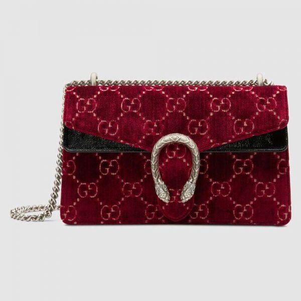 Gucci GG Women Dionysus GG Velvet Small Shoulder Bag