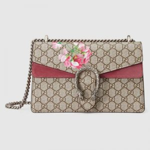 Gucci GG Women Dionysus Small GG Blooms Shoulder Bag
