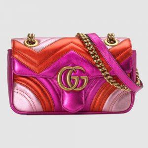 Gucci GG Women GG Marmont Mini Matelassé Bag