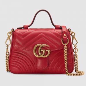 Gucci GG Women GG Marmont Mini Top Handle Bag