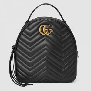 Gucci GG Women GG Marmont Quilted Leather Backpack