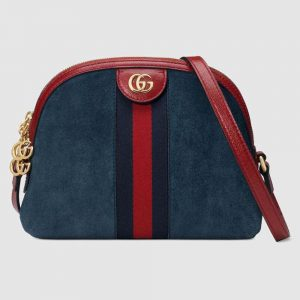 Gucci GG Women Ophidia Small Shoulder Bag in Suede Leather