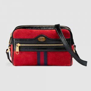 Gucci GG Women Ophidia Suede Mini Bag