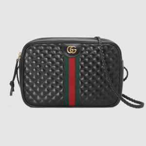Gucci GG Women Quilted Leather Small Shoulder Bag