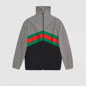 Gucci Men Oversize Technical Jersey Jacket