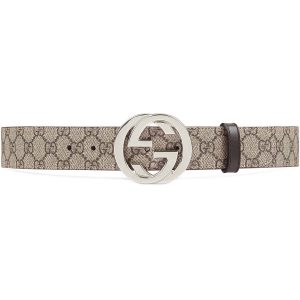 Gucci Unisex Reversible GG Supreme Belt