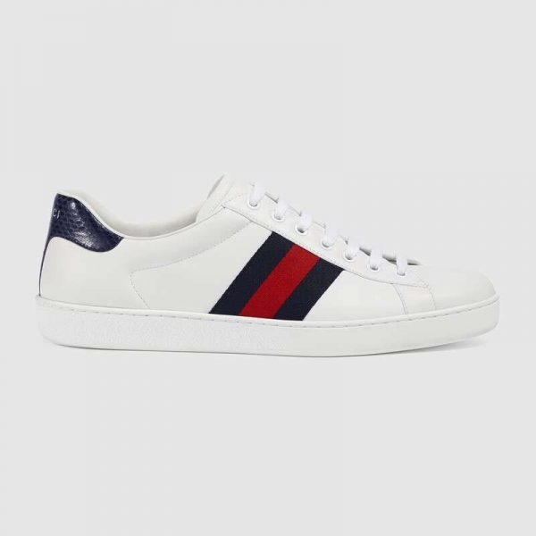 Gucci Unisex Ace Classic Low-Top Leather Sneaker-White