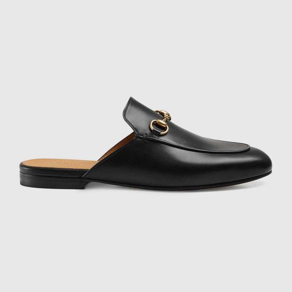 Gucci Unisex Princetown Leather Slipper-Black