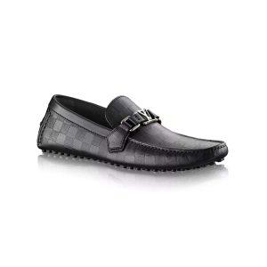 Louis Vuitton LV Men Hockenheim Moccasin Shoes Black