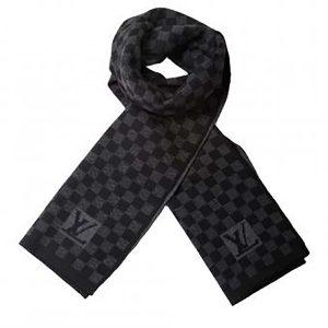 Louis Vuitton LV Men Petit Damier Scarf NM Wool-Black