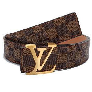 Louis Vuitton LV Unisex LV Initiales 40MM Belt Brown