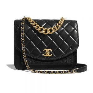Chanel Women Flap Bag in Smooth Calfskin Leather-Black