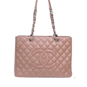Chanel Women GST Shopping Bag in Grained Calfskin Leather