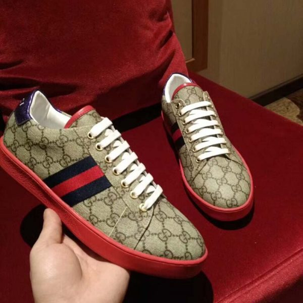 gucci sneakers men red - 53% OFF