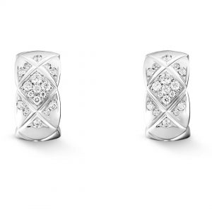 Chanel Women Coco Crush Earrings in 18K Gold and Diamonds