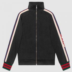 Gucci Women Technical Jersey Jacket-Black