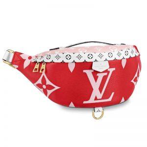 Louis Vuitton LV Women Bumbag in Monogram Canvas-Red