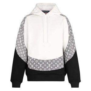 Louis Vuitton LV Women Monogram Circle Cut Hoodie in 100% Cotton-Grey