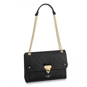 Louis Vuitton LV Women Vavin MM in Monogram Empreinte Leather-Black