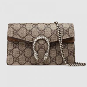 Gucci GG Women Dionysus GG Supreme Mini Bag-Sandy