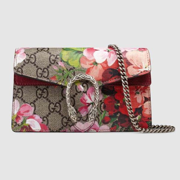 Gucci GG Women Dionysus Small GG Blooms Super Mini Bag-Brown