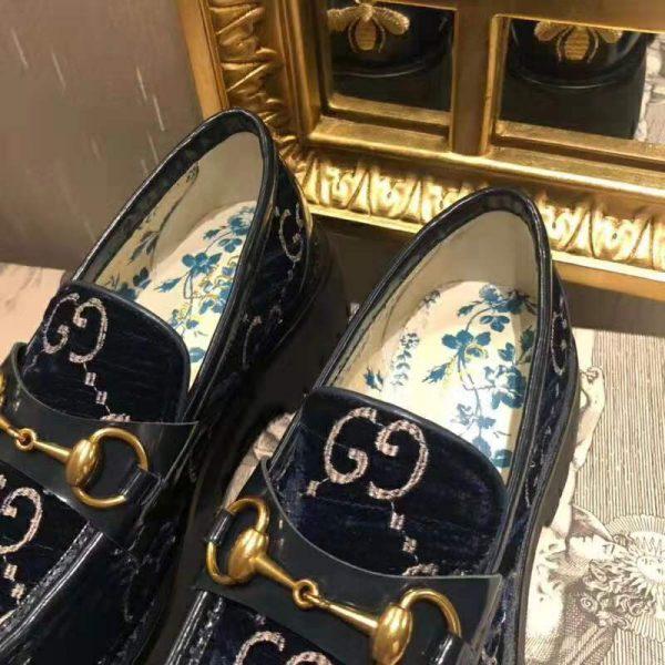 Gucci Women GG Velvet Lug Sole Loafer