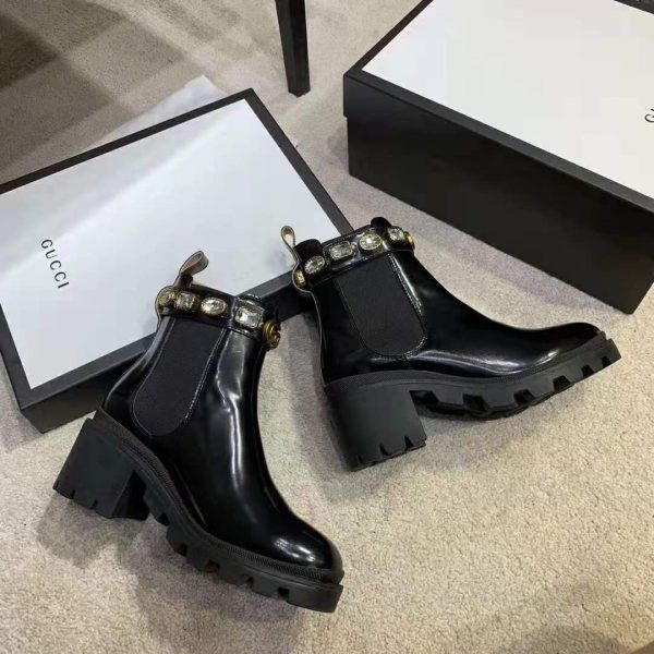 Gucci Women Leather Ankle Boot with