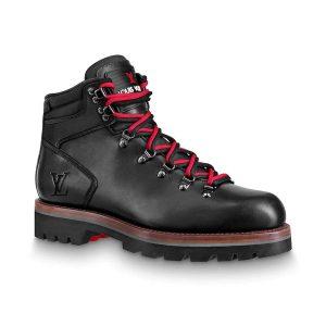 Louis Vuitton LV Men Oberkampf Ankle Boot in Calf Leather-Black