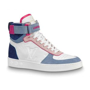 Louis Vuitton LV Unisex Boombox Sneaker Boot in Embossed Lamb Leather-Pink
