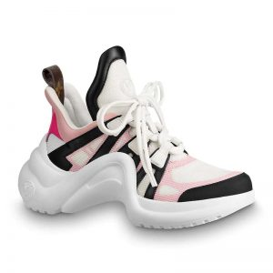 Louis Vuitton LV Unisex LV Archlight Sneaker in Calf Leather and Technical Fabric-Pink