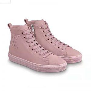 Louis Vuitton LV Women Stellar Sneaker Boot in Soft Pink Calfskin Leather