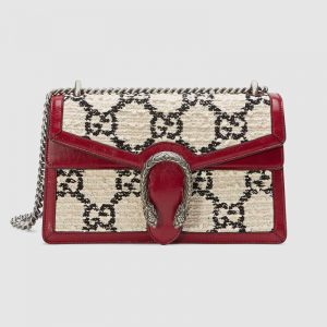 Gucci GG Women Dionysus GG Tweed Small Shoulder Bag-White