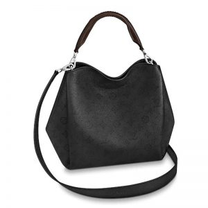 Louis Vuitton LV Women Babylone PM Bag in Mahina Perforated Calf Leather-Black