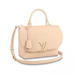 Louis Vuitton LV Women Volta High-End Cross-Body Handbag in Soft Calfskin-Sandy