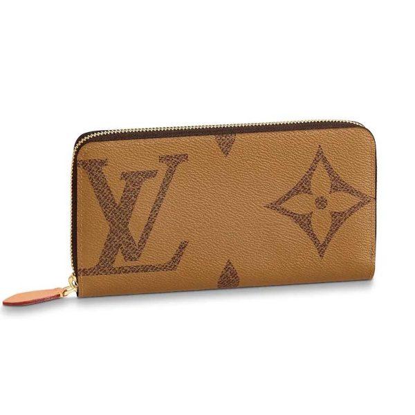 Louis Vuitton Lv Women Zippy Wallet In Giant Monogram Reverse Canvas Lulux