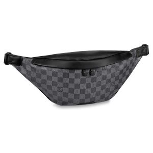 Louis Vuitton LV Men Discovery Bumbag in Damier Graphite Canvas-Grey