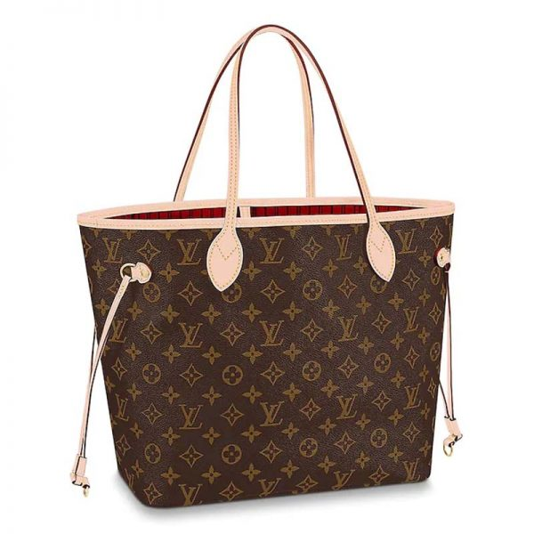 Louis Vuitton LV Women Neverfull MM Bag in Monogram Canvas-Brown
