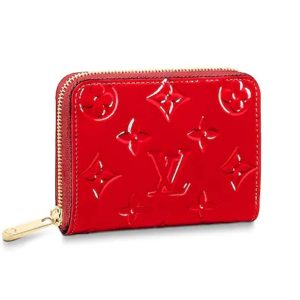 Louis Vuitton LV Women Zippy Coin Purse in Monogram Vernis Patent Calf Leather-Red