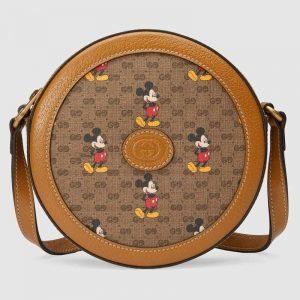 Gucci GG Unisex Disney x Gucci Round Shoulder Bag-Brown