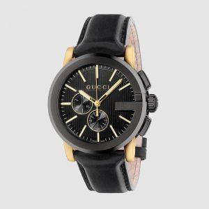 Gucci Men G-Chrono Watch 44mm-Black
