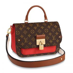Louis Vuitton LV Women Vaugirard Bag in Monogram Canvas Leather-Red