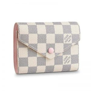 Louis Vuitton LV Women Victorine Wallet in Damier Azur Canvas