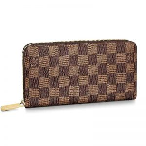 Louis Vuitton LV Women Zippy Wallet Damier Ebene Canvas-Brown