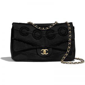 Chanel Women Flap Bag Denim & Gold-Tone Metal-Black