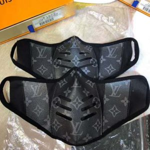 Louis Vuitton LV Unisex Facial Mask in Monogram Canvas-Grey