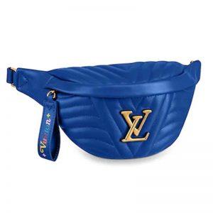 Louis Vuitton LV Women New Wave Bumbag Quilted Calf-Blue
